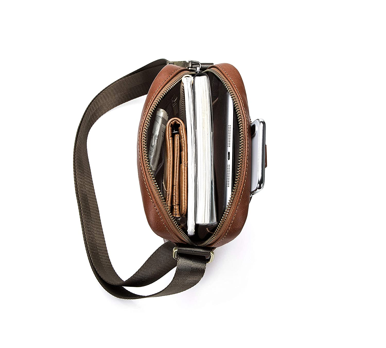 Green Sunmiao Simple Retro Lock Doctor Bag Square PU Shoulder Bag Messenger Bag