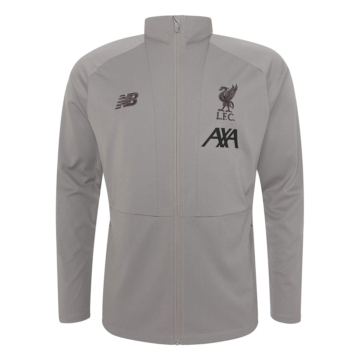 Liverpool FC Grey Polyester Boys Football Training Travel Knit Jacket 2019//2020 LFC Official