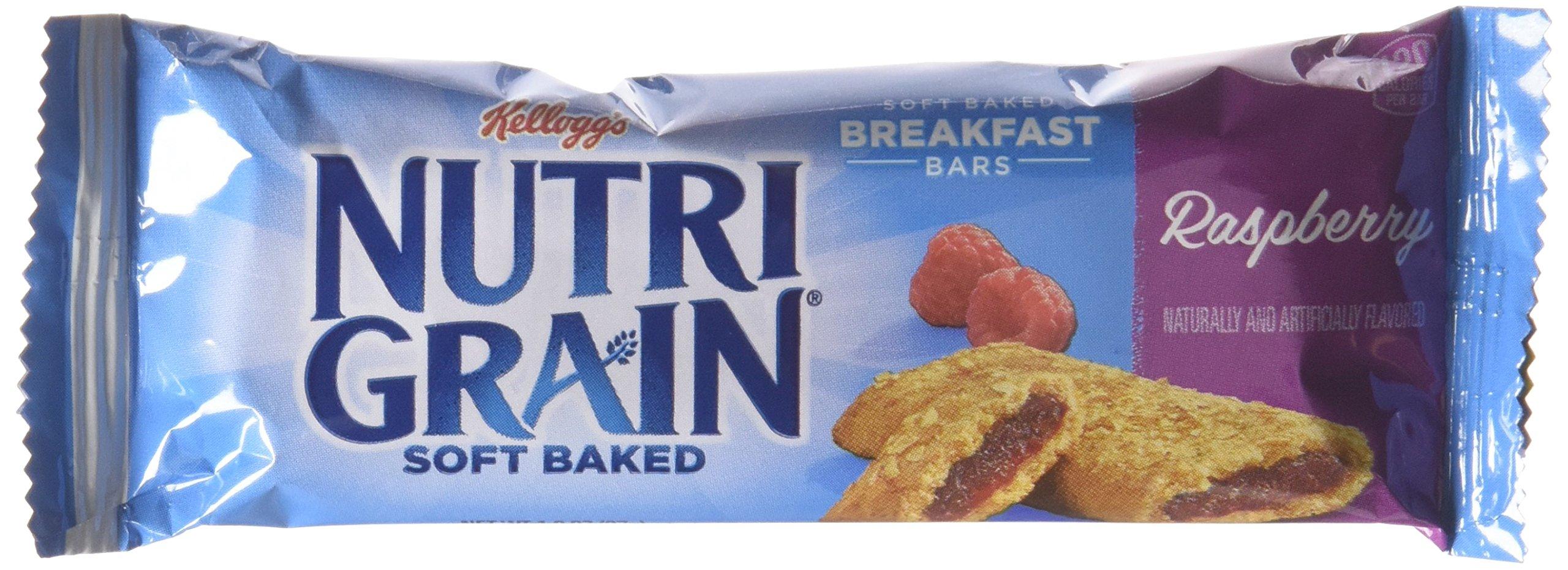 Kellogg's Nutri-Grain Cereal Breakfast Bars, Raspberry, 8 Count (Pack of 6) by Nutri-Grain