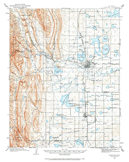 Amazon.com: 1906 Loveland, CO | USGS Historical Topographic Map ...