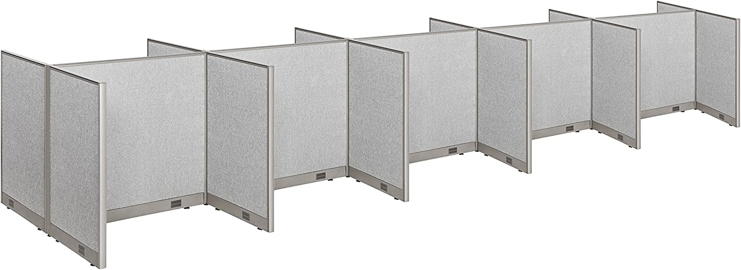 """GOF Cubicle Double 10 Station Office Partition, Large Fabric Room Divider Panel Workstation, 30""""D x 48""""W x 48""""H"""