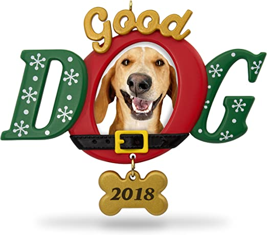 Hallmark Keepsake Christmas Ornament 2018 Year Dated Good Dog Photoholder