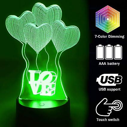 Led Night Lights Skateboarding Boys 3d Led Night Light Colorful Touch Charging Remote Control Gradual Gift Led Kids Room Light Led Lamps