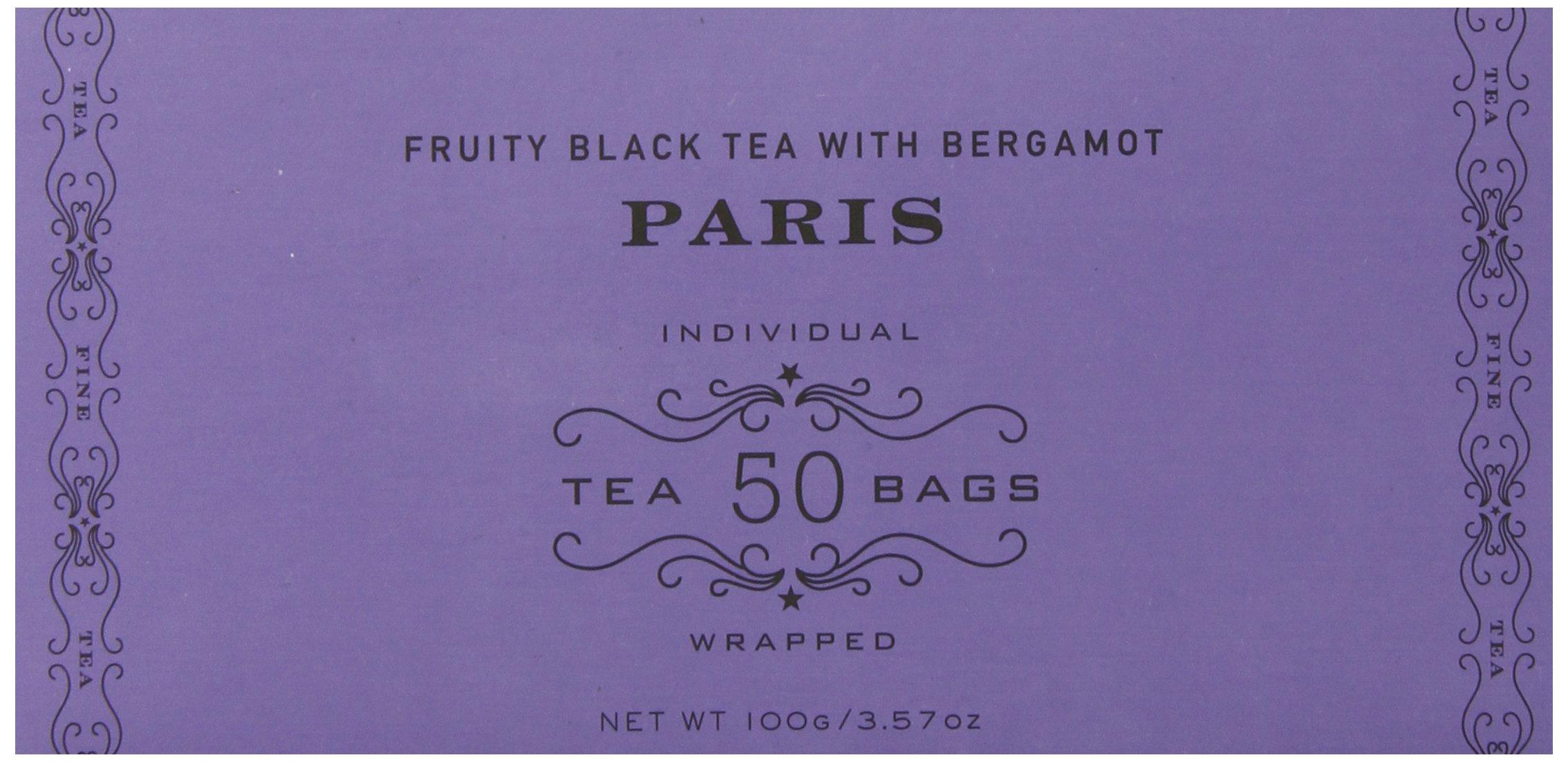 Harney & Sons Fruity Black Tea with Bergamot, Paris, 50 Tea Bags by Harney & Sons