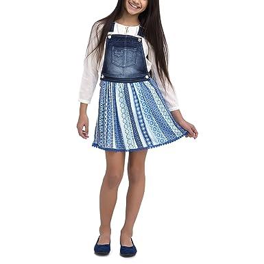 116b788a4 Amazon.com: Jordache Girls' Denim Skirtall Dress: Clothing