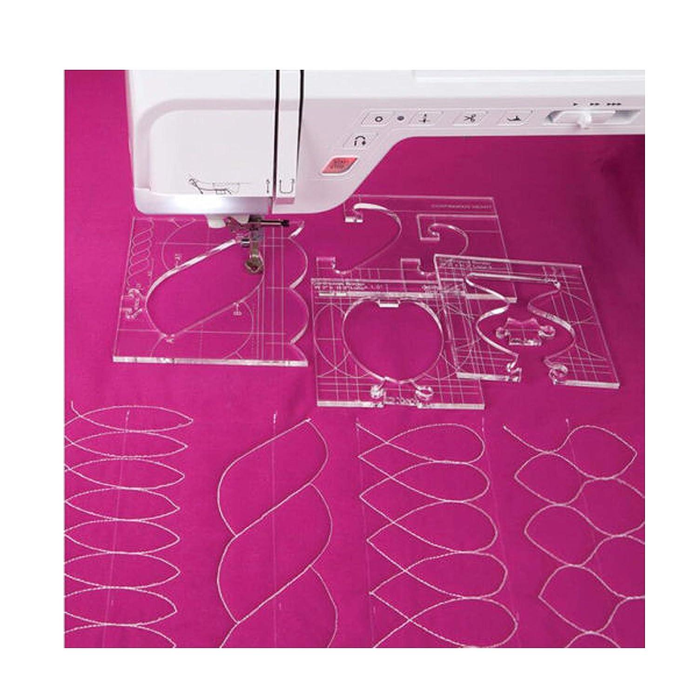 YICBOR New Ruler Border Sampler Template Set for Sewing Machine 1set = 4pcs #RL-04W