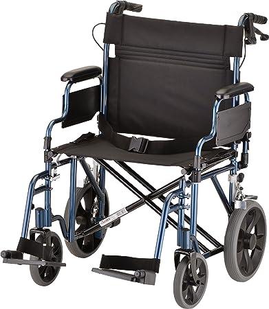 NOVA Medical Products 22u0026quot; Heavy Duty Transport Wheelchair, ...
