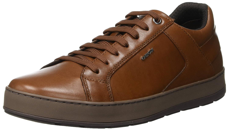 (Cognac C6001) Geox Men's U Ariam D Low-Top Sneakers