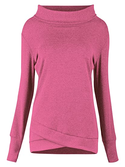 Uhnice Fashion Plus Size Women s Plain Long Sleeve Tee Top Shirt at ... 01e08808f0