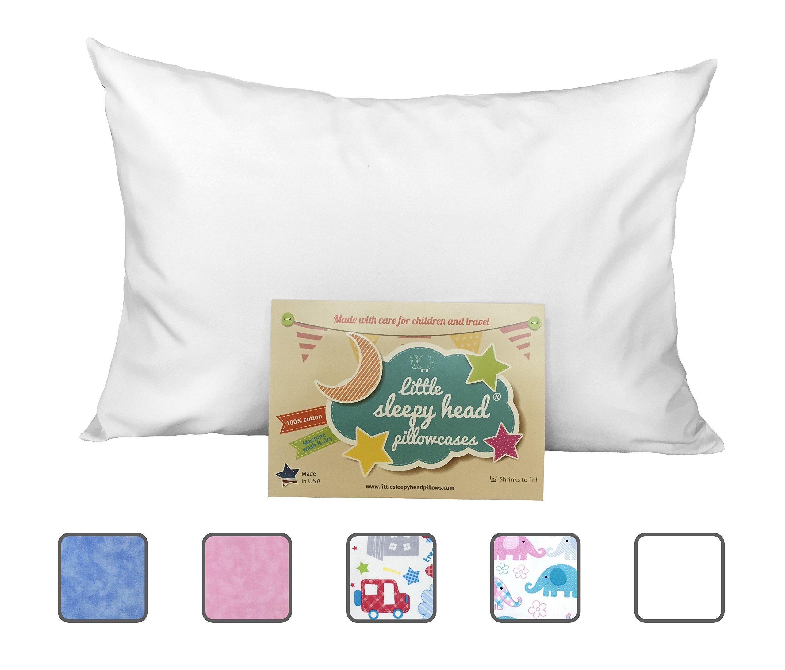 Little Sleepy Head Toddler Pillowcase - White Envelope, 13 x 18