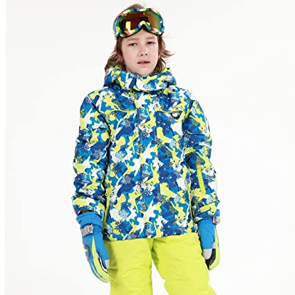 3ba1920e6 Amazon.com   HAIVIDO Big Boys   Girls Ski Jackets with Removable ...