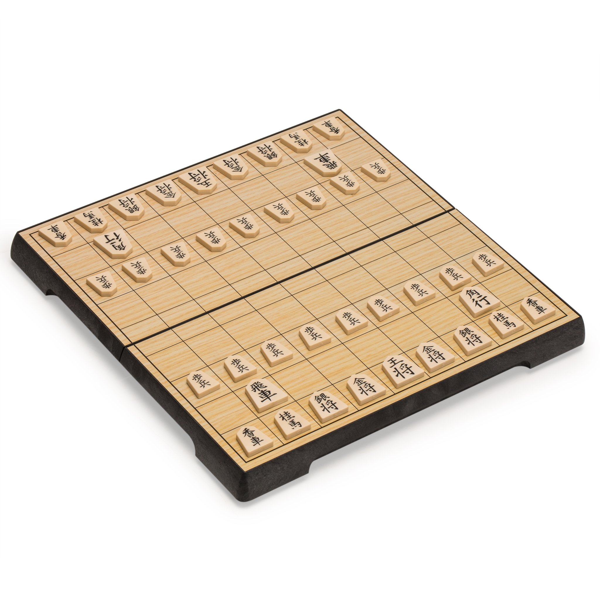 Shogi Travel Game Set with Magnetic 9.6 Inch Board and Game Pieces