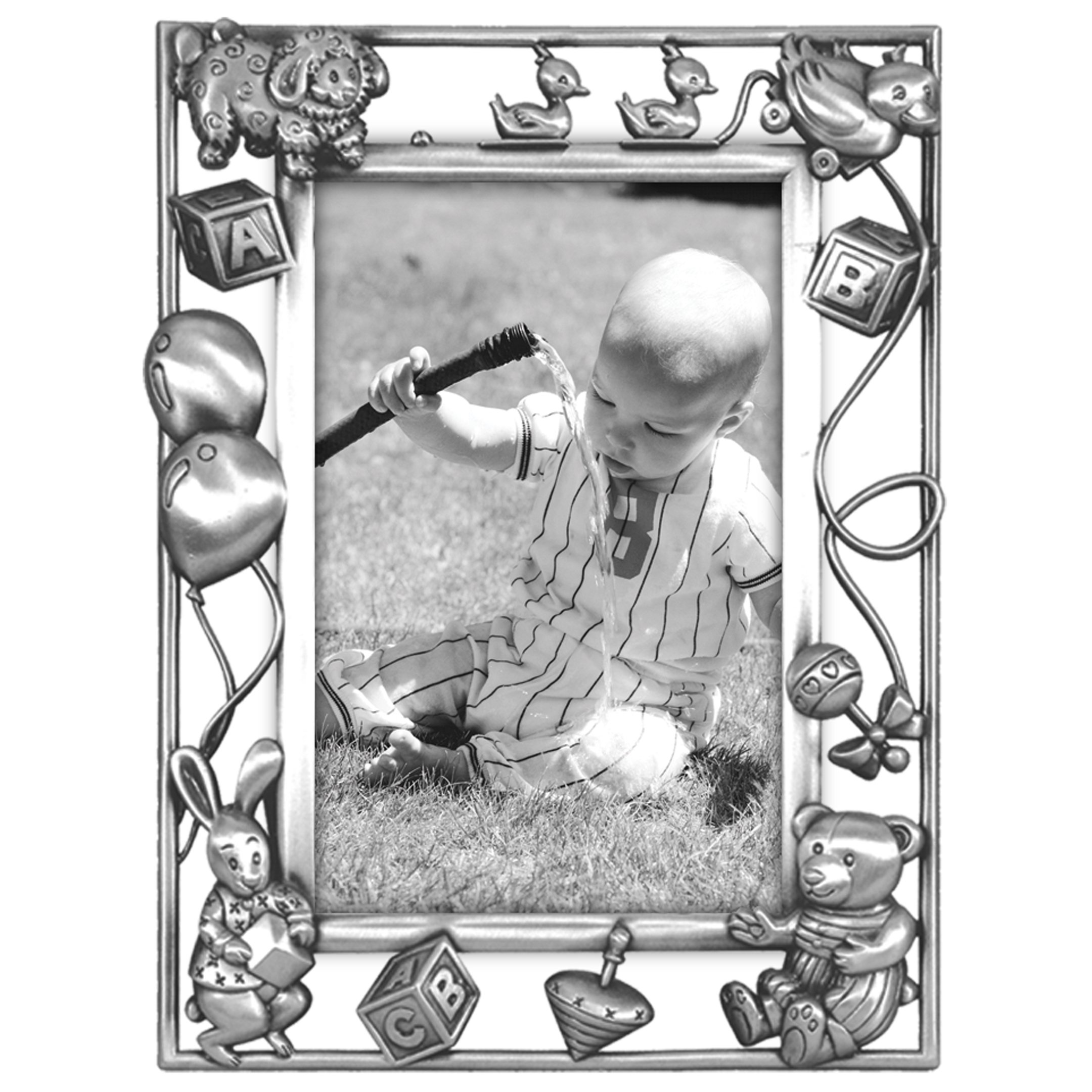 Malden International Designs Nursery Parade Picture Frame, 4x6, Silver