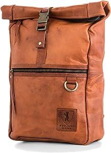 Berliner Bags Utrecht M Leather Backpack Laptop Rucksack Men Women Retro Brown