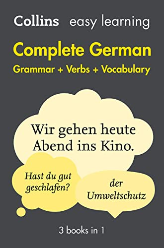 Easy Learning German Complete Grammar; Verbs and Vocabulary (3 books in 1) (Collins Easy Learning German)