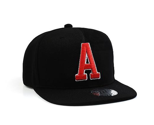 Letra a nombre inicial Unisex snapback Gorra de béisbol por True ...
