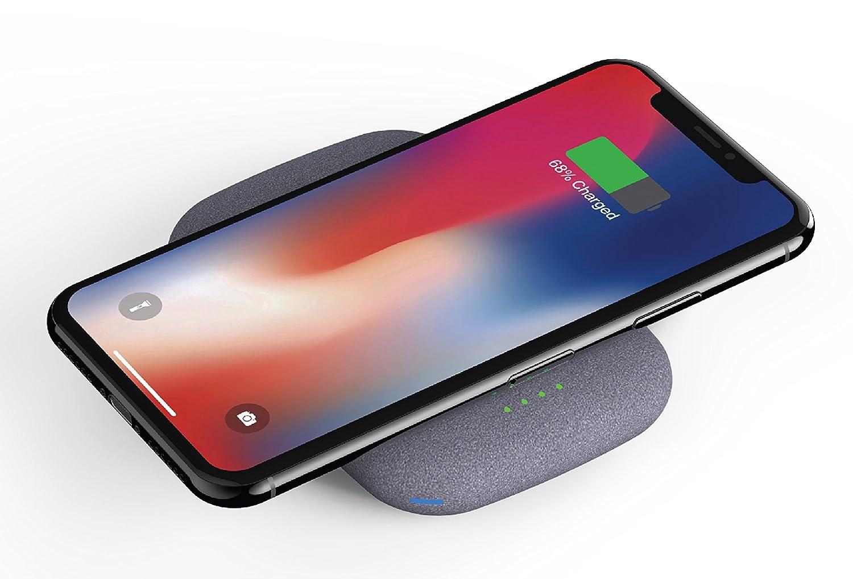 QiStone+: Caricabatterie la prima Wireless Power Bank Interamente senza fili con Qi+ 4000mAh per tutti i dispositivi Qi-compatibili tra cui iPhone X, 8, 8 Plus, Samsung Galaxy S9, S9+, S8, S8+, S7, S7 Edge, S6, S6 Edge, S6 Edge +, Note 5, LG V30S, LG G7, Nexus 4, 5, 6, 7 ed altri telefoni Qi-compatibili