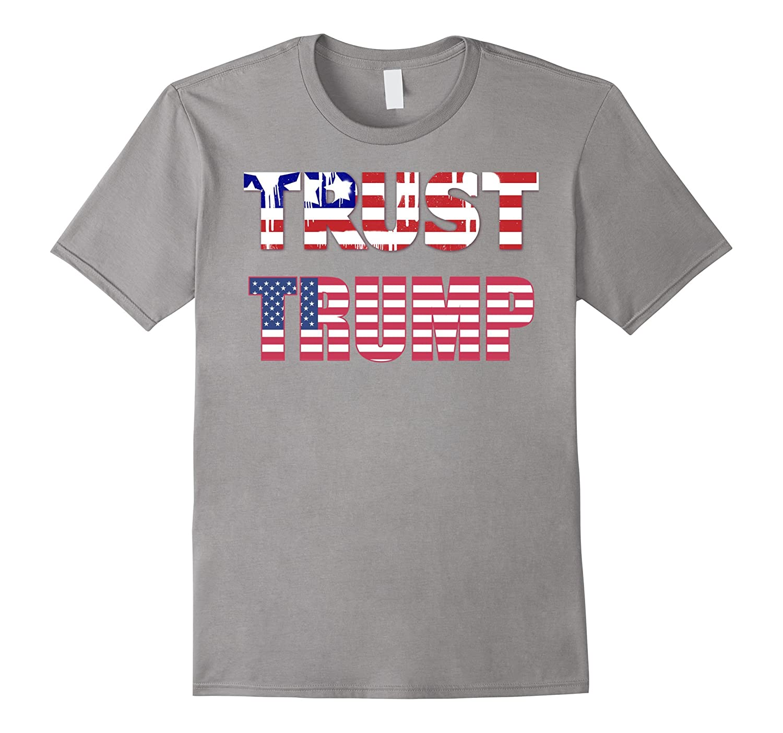 Pro Trump US Flag Political Tee