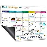 "Magnetic Calendar for Refrigerator - Fridge Calendar, Magnetic Dry Erase Calendar with Notes, Monthly Calendar Whiteboard, 16.9"" x 11.8"", Desk & Wall & Fridge Calendar/Planner - Colorful"