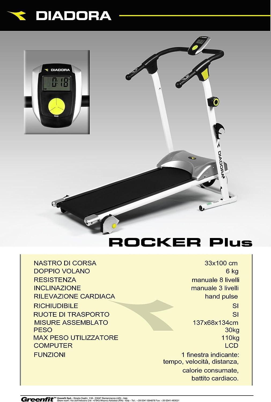 Cinta correr magnética Diadora Rocker Plus: Amazon.es: Deportes y ...