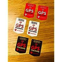 Se42, 6 x GPS-tracking-stickers, voor veiligheid op de fiets