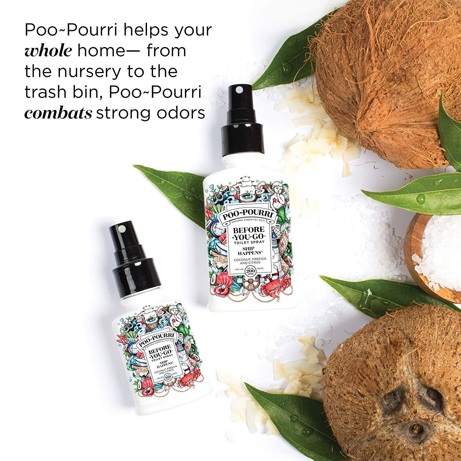 Poo-Pourri in A Pinch Pack Toilet Spray Gift Set, 5 Pack 10 mL, and 1.4 Ounce Ship Happens Bottle by Poo-Pourri (Image #8)