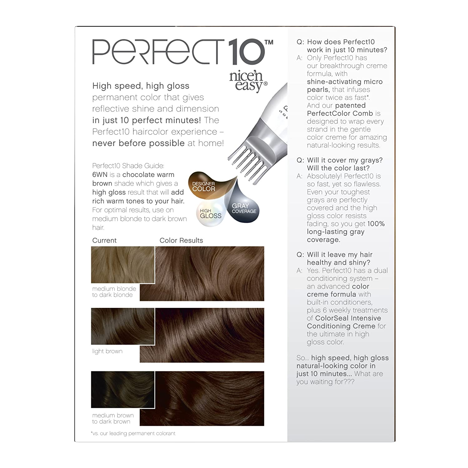 Amazon Clairol Perfect 10 By Nice N Easy Hair Color 6wn Light