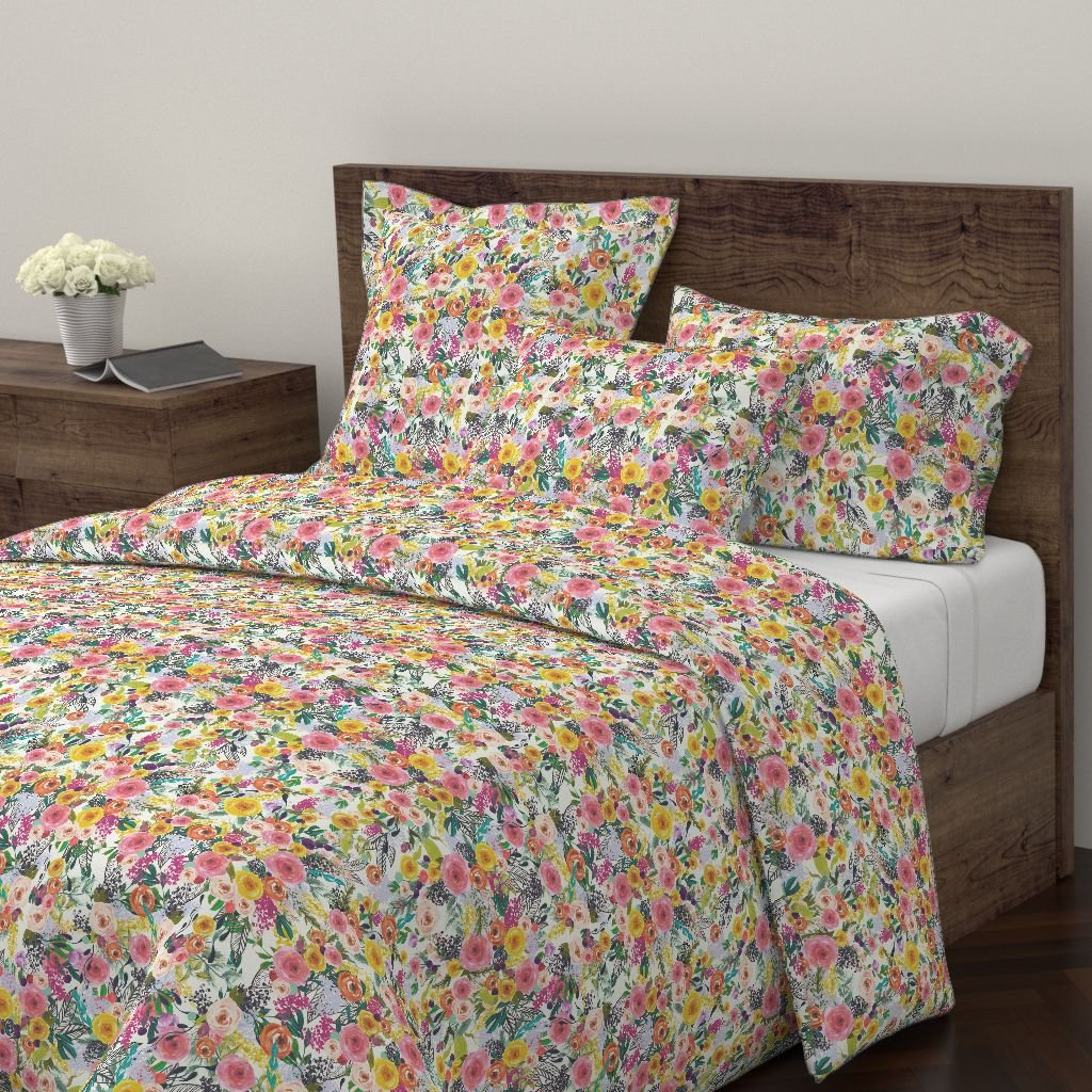 Amazon Com Roostery Floral Print Duvet Cover Colorful Floral Floral
