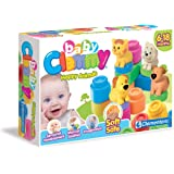 Clementoni - 14773.1 - Cubes Souples - Clemmy Baby - Joyeux Animal