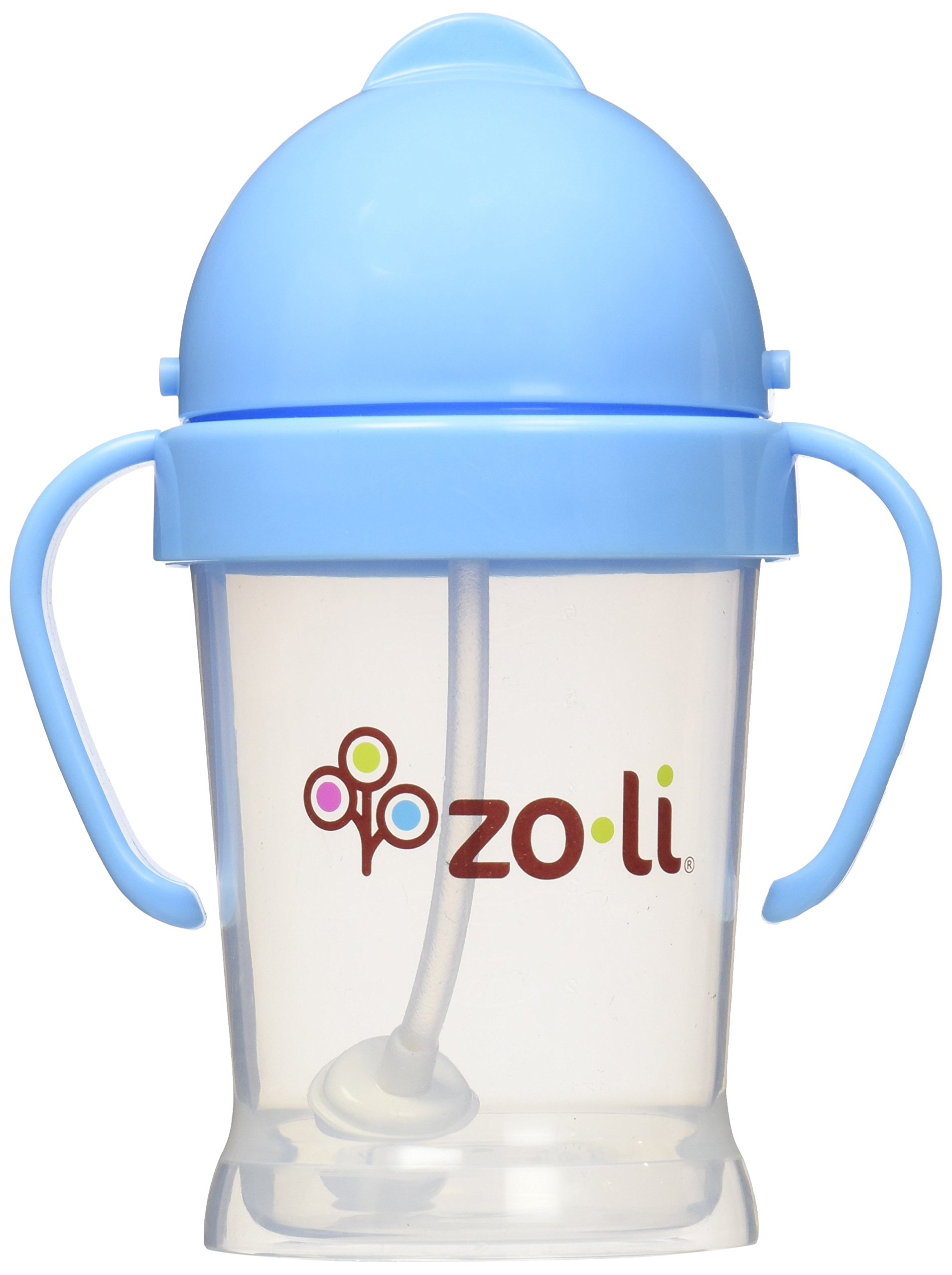 ZoLi BOT Straw Sippy Cup, Blue, 6 oz