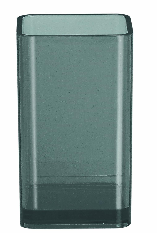 quadratisch transparent//Grau Polystyrol Glas Spirella 10.15308 Beh/älter