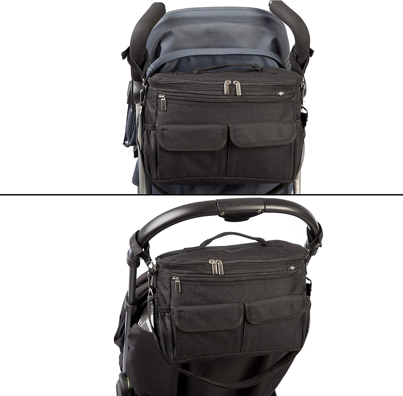 BTR sac de rangement pour poussette avec 2 /à clips /à poussette