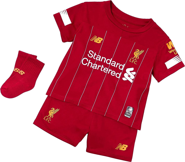 19//20 Liverpool Kids Full Home Kit personnalisée nom et numéro de football enfants