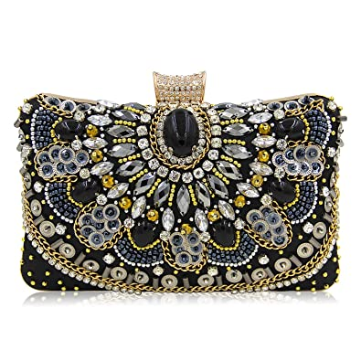 b535eccd17 Evening Clutch Bags Beads clutch Black Autumn new style women Crystal  Rhinestone bag formal dress handbags