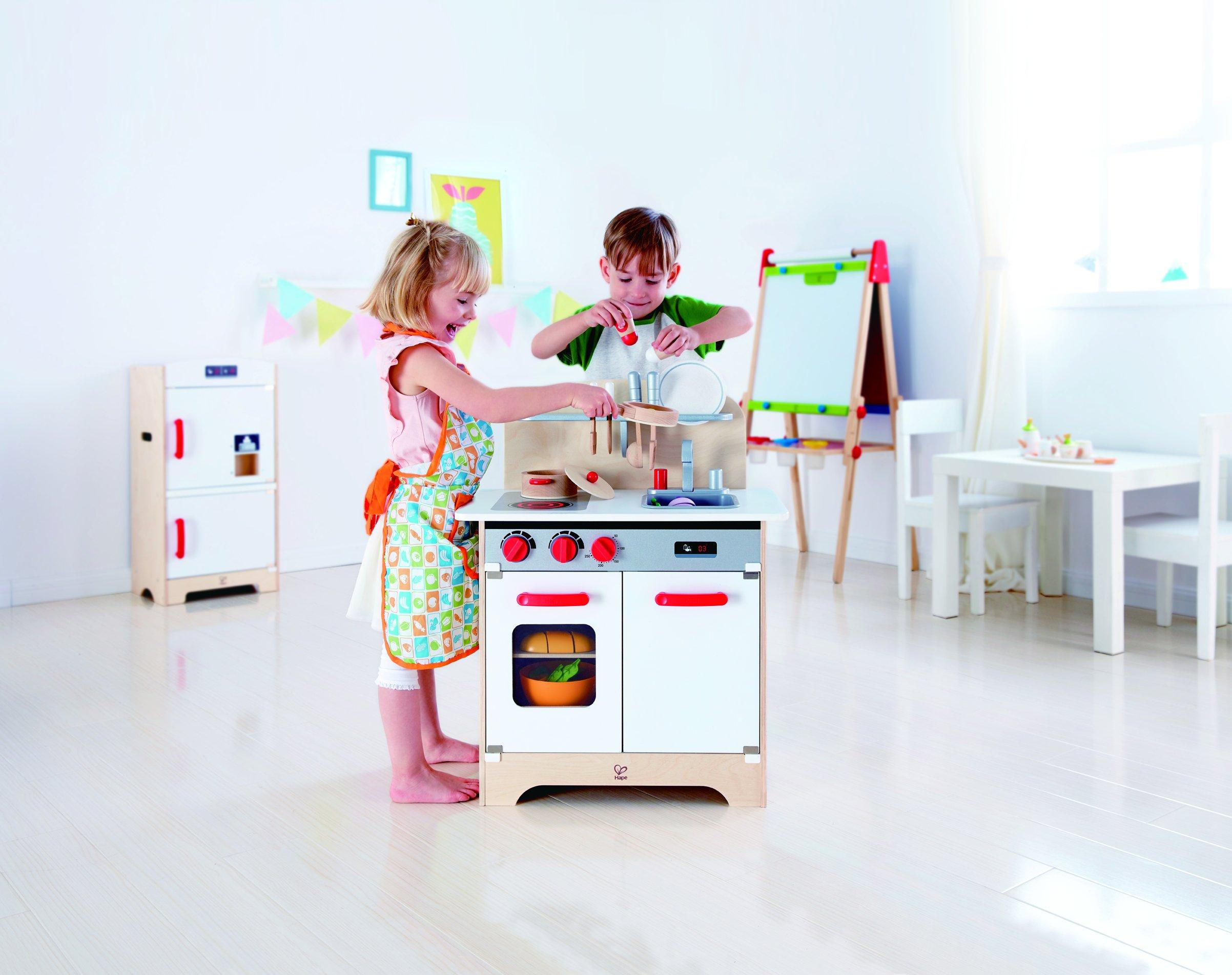 Hape White Gourmet Kitchen Toy, White/Red