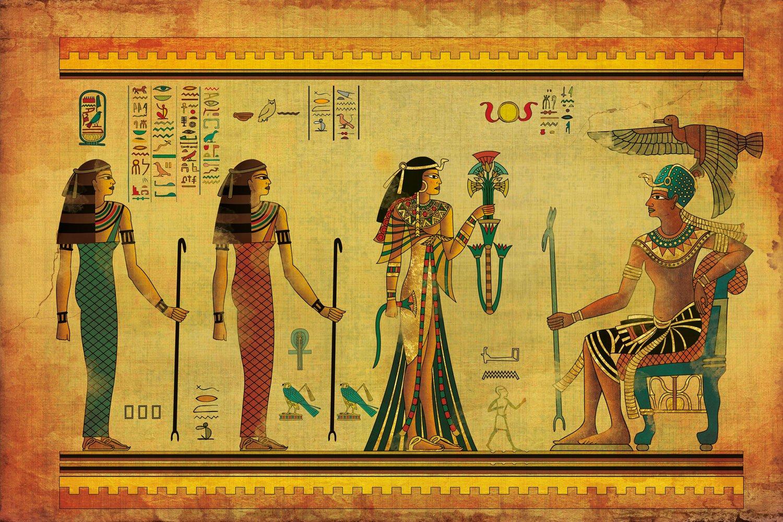 Buy Walls and Murals Egyptian Wall Paintings Vintage Wallpaper Peel ...