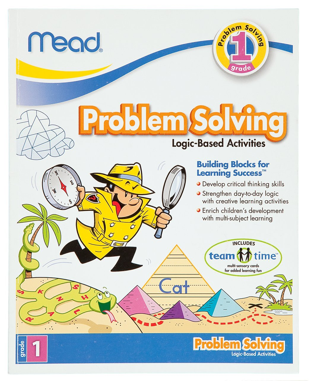 Workbooks developing spatial thinking workbook : Amazon.com : Mead 1st Grade Problem Solving Workbook, 10 x 8 ...