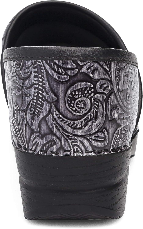 Dansko Women's Professional Clog Grey Tooled Patent