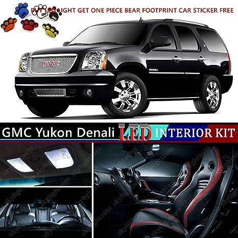 16pcs LED Premium Xenon White Light Interior Package Deal For GMC Yukon  Denali 2007 2013