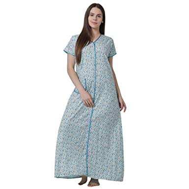 b77971f1ae5 Image Unavailable. Image not available for. Colour  GOLDSTROMS Minelli  Women s Cotton Front Button Open Night Gown ...