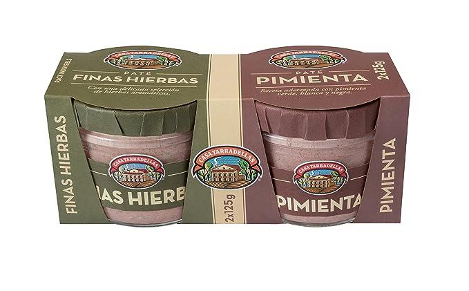 Casa Tarradellas Paté con Pimienta y Finas Hierbas - Paquete de 2 ...