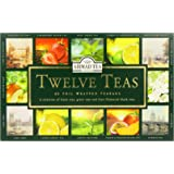 Ahmad Tea Twelves Teas (Pack of 1, Total 60 Enveloped Tea Bags) [Grocery]