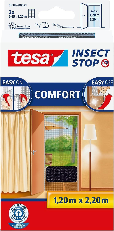 Tesa Fliegengitter Standard Tür 2 x 0,65 x 2,2 m weiss