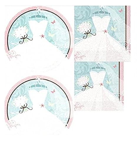 something blue bridal shower tableware set 108 pcs