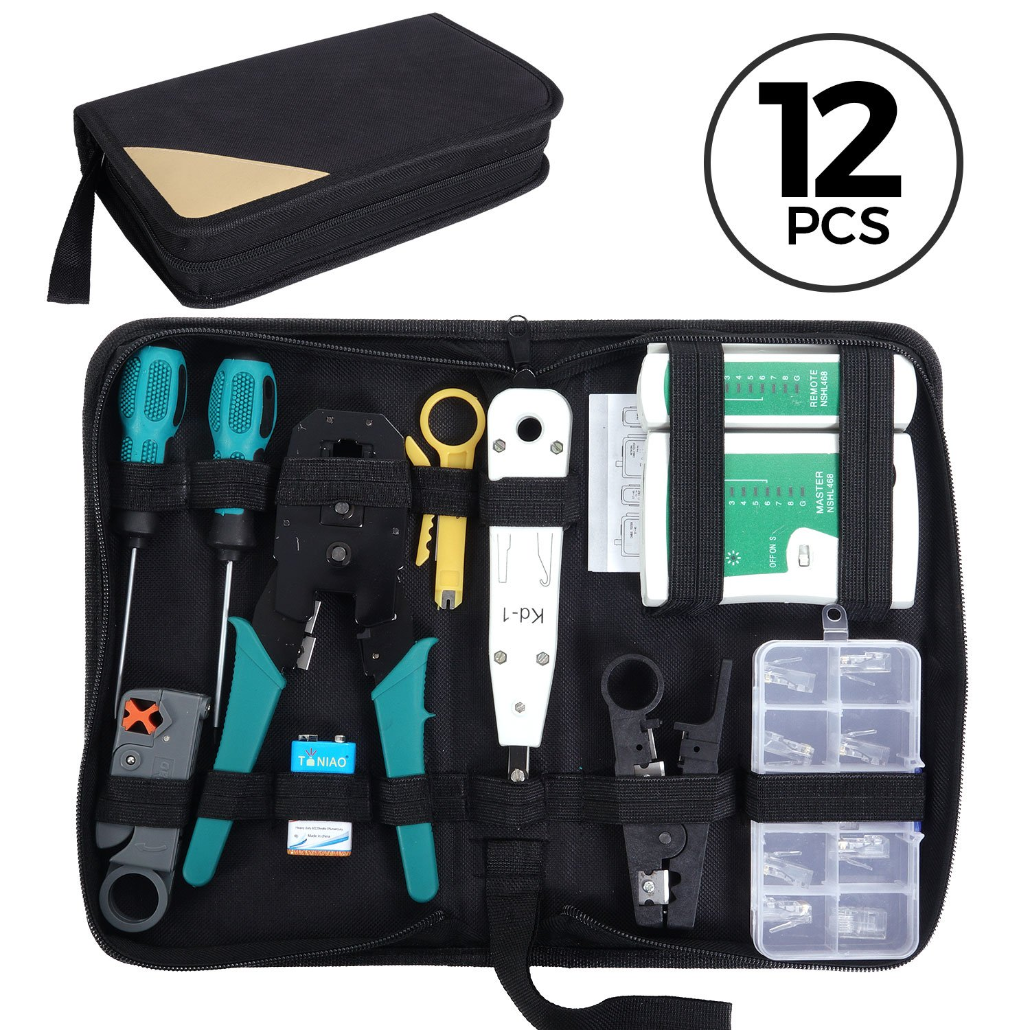 SGILE 12 in 1 Network Repair Kits Professional Network Tools Kits Computer Maintenacnce Lan Cable Tester Computer & Mobile Device Repair Kits