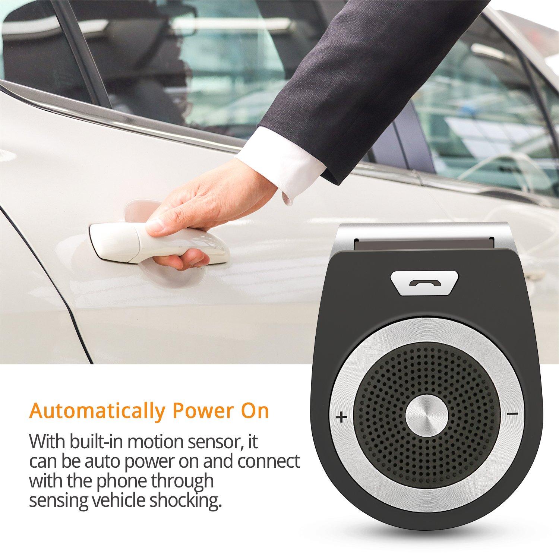 PullPritt 4.1 da usare senza mani Car Bluetooth per Speaker connettere due dispositivi di smartphone contemporaneamente Kit vivavoce per auto Bluetooth