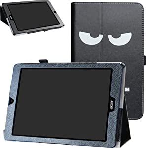 Acer Chromebook Tab 10 Case,Bige PU Leather Folio 2-Folding Stand Cover for Acer Chromebook Tab 10 Tablet,Don't Touch