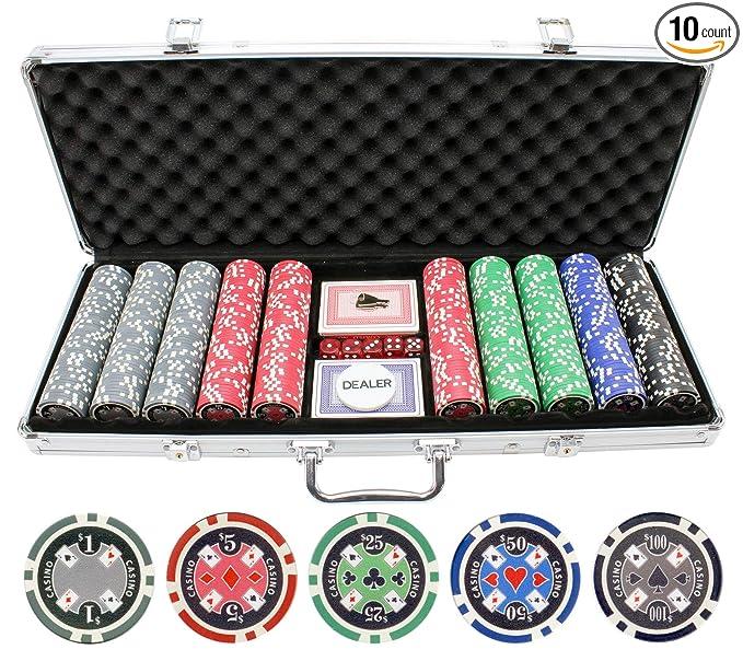 Amazon.com: Juego de fichas para póquer de casino Ace ...