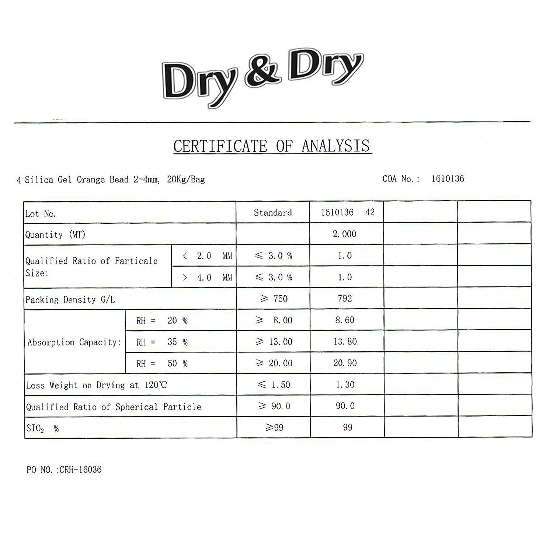 Dry /& Dry Rechargeable DD1G200-ORANGE Silica Gel Packets 1 Gram Orange Premium Indicating Orange to Dark Green 200 Packs
