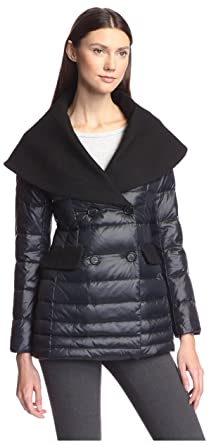 buy online f6d10 7c6c9 Happy Goat Lucky Women s Cassidy Wool   Down Mixed Media Coat  Amazon.in   Clothing   Accessories